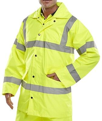 Light Weight Hi-Viz Traffic Jacket - Saturn Yellow - 6XL
