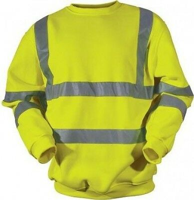 Blackrock Men's Hi-Vis Sweatshirt - Yellow, Large