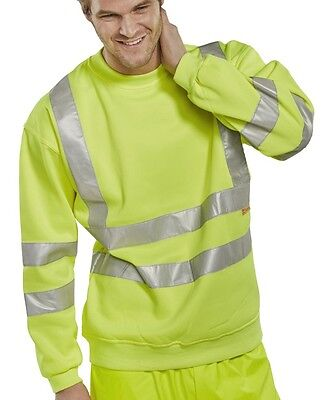 BSeen Sweatshirt EN471 Sat/Yellow Hi-Vis - Large