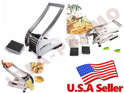 Stainless French Fry Potato Vegetable Cutter Chopper Dicer, 2  Blades
