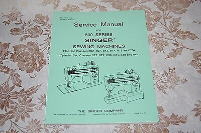 Singer Sewing Machines 807, 827, 1021, 1022, Service Manual on CD in PDF Format