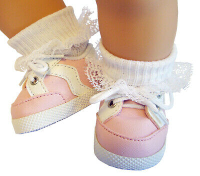 TOP QUALITY Pink Gym Shoes Sneakers For Bitty Baby + Twins Doll Clothes