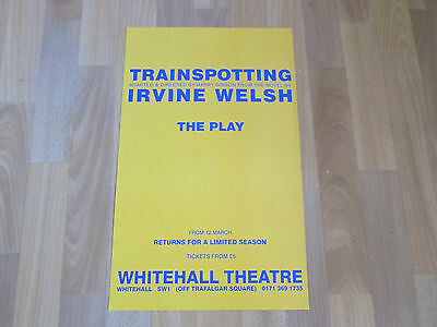 TRAINSPOTTING the Play from the Novel by Irvine Welsh WHITEHALL Theatre Poster