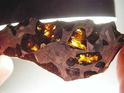 Low Price! Large Gorgeous Crystals! Fantastic Fukang Pallasite Meteorite 39.4 Gm