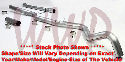 "5"" Down Pipe Back Exhaust System 07-10 Chevy/GM Duramax Turbo Diesel 6.6L Pickup"