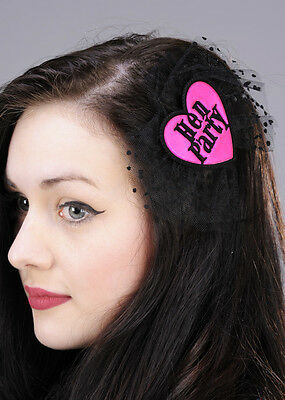 Pink and Black Hen Party Hair Bow