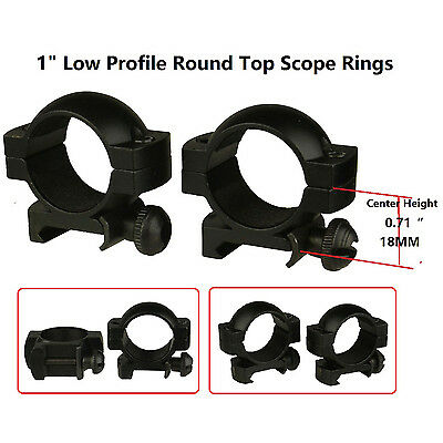 "1"" Scope Ring Weaver Mount, Low Profile, Center Height:0.71"" 18MM,Comes In Pair"