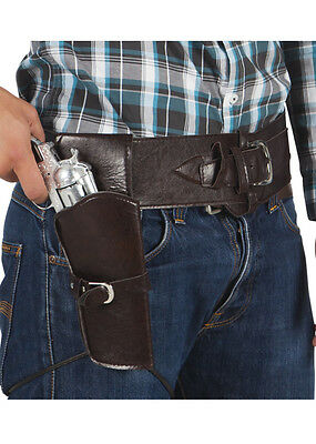 Authentic Western Brown Cowboy Holster and Belt DOES NOT INCLUDE GUN
