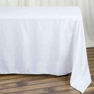 90x132 in. Polyester Rectangle Seamless Tablecloth - Wedding/Party/Banquet