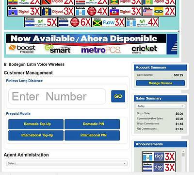 Recharge Unlimited Mexico $5 Dealer Website Portal High Commissions