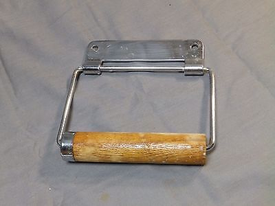 Vtg Chrome Brass Toilet Tissue Paper Holder Old Bathroom Fixture 1713-16