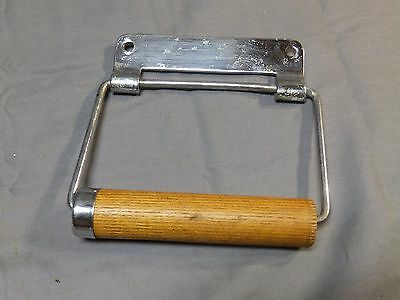 Vtg Chrome Brass Toilet Tissue Paper Holder Old Bathroom Fixture 1714-16