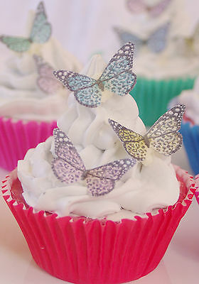Edible Butterfly Leopard Cupcake Topper Princess 30pc Petite Regal Africa Sexy