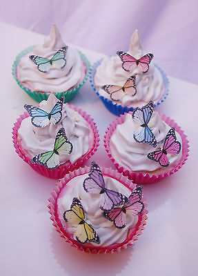 Butterfly Cupcake Topper Mini Monarch Birthday Party Lolly Buffet Edible Paper