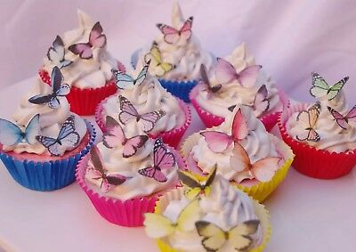 Butterfly Cake Decoration Mixed 30pc Christening Anniversary Naming Celebration