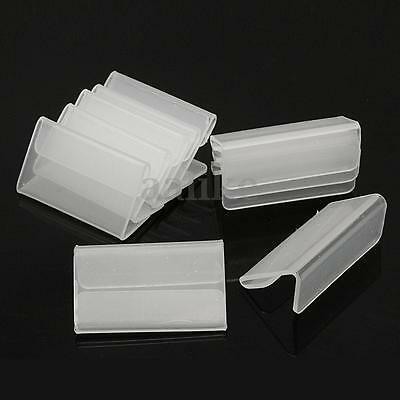 100pcs Mini Sign Display Holder Price Name Card Tag Label Shop Stand 4cm x 2cm