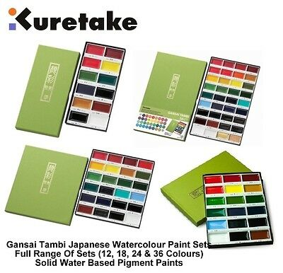 Kuretake Zig Gansai Tambi Japanese Traditional Large Pan Watercolour Paint Sets