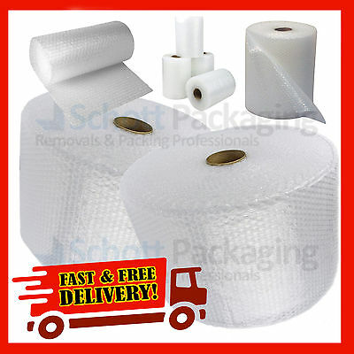 BUBBLE WRAP ROLLS SMALL (300mm, 500mm, 750mm) 25M 50M 100M - FAST&FREE DELIVERY!