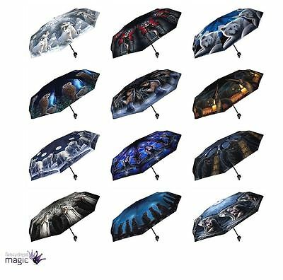 Nemesis Now Telescopic Umbrella Brolly Xmas Christmas Birthday Gothic Gift Home