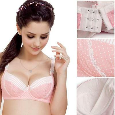 Pregnant Women Maternity Nursing Bras Breast Feeding Cotton Drop Clip Bra 3/4Cup