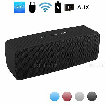 New Bluetooth Portable Speaker Wireless Bass Stereo for Tablet Rechargeable