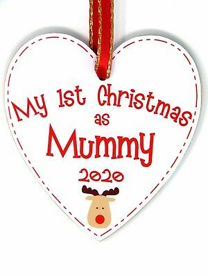My First Christmas as Mummy - Reindeer 1st Xmas Tree Decoration - New Mum Bauble