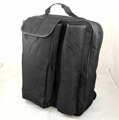 Black Water Resistant Wheelchair Crutch Storage Shopping Bag with Carry Handle