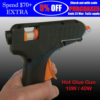 10W | 40W Electric Hot Melt Glue Gun Heating Craft Scrapbook W/ 2 Glue Sticks