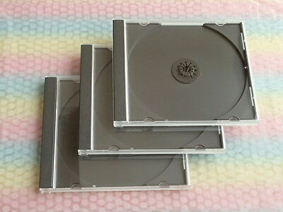 JEWEL CASES standard size 3 pieces set (with BLACK Tray) Product of Japan