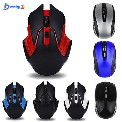 2.4GHz 3200DPI USB Wireless Optical Gaming Mouse Mice For Computer PC Laptop