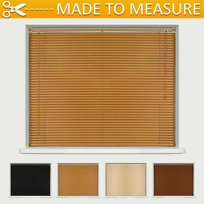 Made To Measure Wood Effect Pvc Venetian Blinds - Many Sizes And Colours