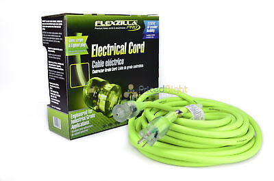 50 ft Flexzilla Pro Electric Extension Power Cord Cable Indoor Outdoor 10 gauge