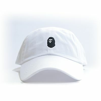"""BAPE"" Embroidered Dad Hat (BATHING APE HEAD supreme AAPE unsturctured ALL COLOR"