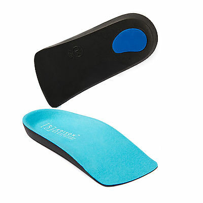 3/4 BLU Orthotic Insoles Shoe Inserts Arch Support Fallen Arches Flat Feet