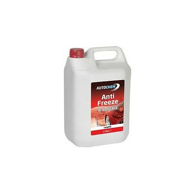 Anti-freeze 5 Litre Concentrate Red Antifreeze Summer Coolant by Tetrosyl 5L OAT