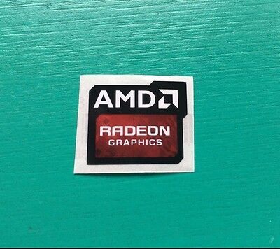AMD Radeon Graphics Sticker 16.5 x 19.5mm Case Badge | New Version | USA Seller!