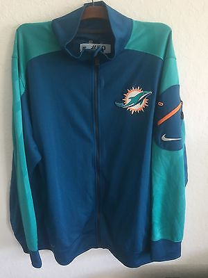 Andre Branch #50 Miami Dolphins NFL Game Issued Nike Dri Fit Zip Up Jacket XXXL