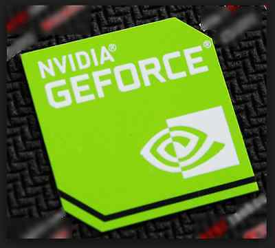 10x Nvidia GeForce Sticker 17.5 x 17.5mm Case Badge New Version Logo USA Seller