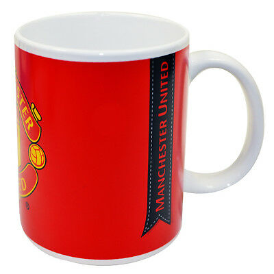 Official Licensed Football Product Manchester United Mug Cup Ribbon Tea Coffee