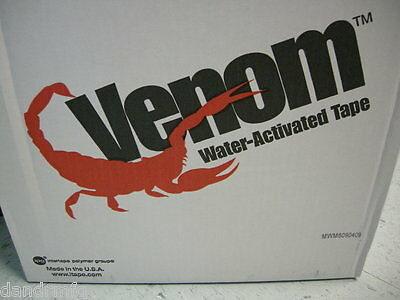 NEW 10 ROLLS VENOM II WATER ACTIVATED TAPE REINFORCED 70mm x 450ft NATURAL K9001