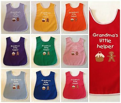 New Childrens Age 2-5 Years Poly/cotton 'grandma's Little Helper' Apron Tabard