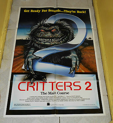 original CRITTERS 2 THE MAIN COURSE one-sheet poster