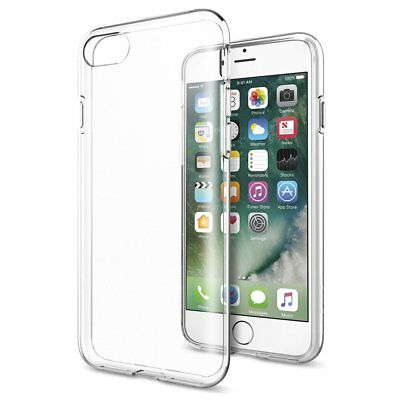 Clear Silicone Case For iPhone 8 7 Clear TPU Back Cover + 1pcs Screen Protector