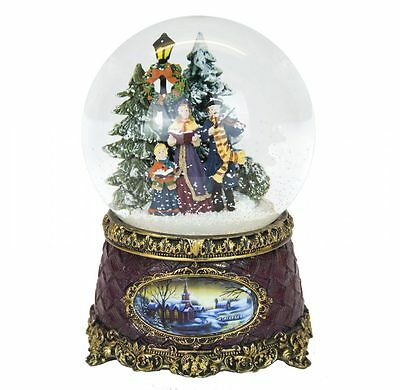 Victorian Christmas Snow Globe Carol Singers (Musical)