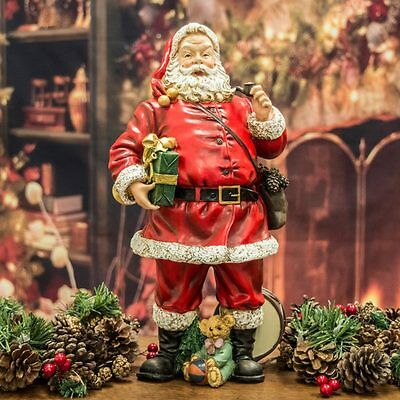 Santa Claus / Father Christmas With Presents Figurine (37cm)