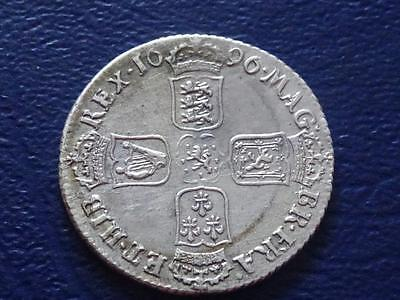 Great Britain William Iii Sterling Silver Shilling 1696