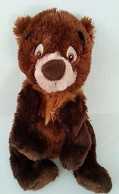 "Authentic Disney Store Exclusive Original Floppy Koda 16"" Small Plush Brown Bear"