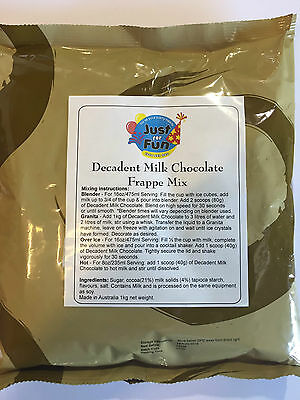 Frappe Chocolate Smoothie 1kg Frappe Iced Chocolate Mix