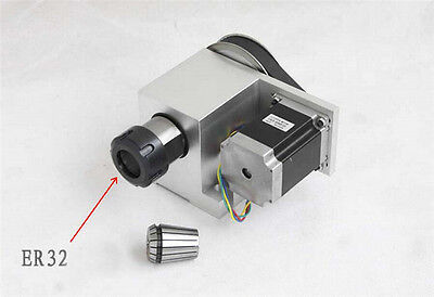 Ratio 3:1 Rotary Axis 4th Axis ER32 Collet Rotation Axis with 100MM 4 Jaw Chuck