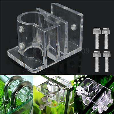 25mm Aquarium Pince De Fixation Support Acrylique Clip Trous Citerne Tube d'eau